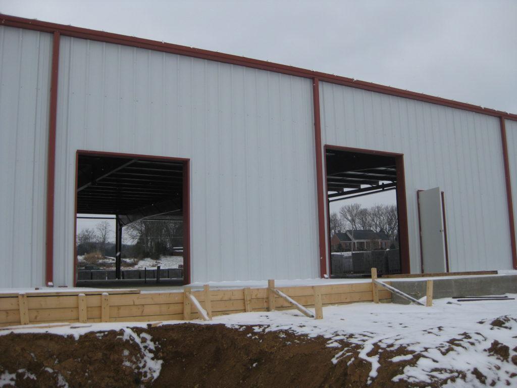 Steel Building Framed Opening